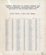 Farmers Directory 01, Alpena - Presque Isle - Montmorency Counties 1903