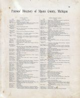 Patrons Directory 001, Alpena - Presque Isle - Montmorency Counties 1903