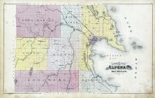Alpena County Outline Map, Alpena - Presque Isle - Montmorency Counties 1903