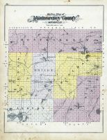 Montmrency County Outline Map, Alpena - Presque Isle - Montmorency Counties 1903