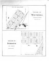 Wetzell Village, Simons Village, Antrim County 1897