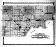 Arenac County Outline Map, Arenac County 1906
