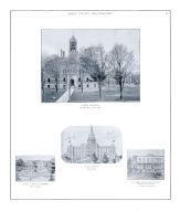 County Buildings, Lehnner, St. James Hotel, Olmstead, State Capitol, Lansing