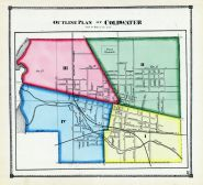 Coldwater - Outline Plan, Branch County 1872