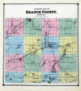 County Map, Branch County 1872