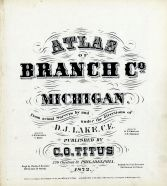 Title Page, Branch County 1872