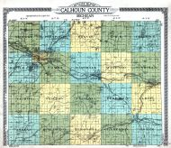 Calhoun County Outline Map, Calhoun County 1916