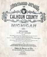 Calhoun County 1916 Michigan Historical Atlas on