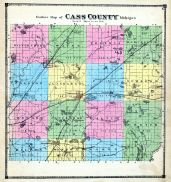 County Outline Map, Cass County 1872