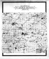 Cass County Outline Map, Cass County 1896