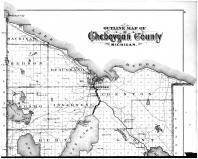 Cheboygan County Outline Map - Above, Cheboygan County 1902