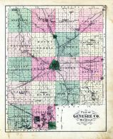 County Map, Genesee County 1873