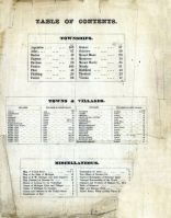 Table of Contents, Genesee County 1873