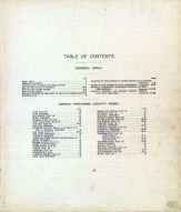 Index and Table of Contents, Grand Traverse County 1908