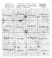 Chadwick Farm Atlas, Gratiot County Map, Gratiot County 1914