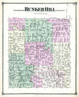 Bunker Hill Township, Fitchburgh P.O., Ingham County 1874 with Lansing