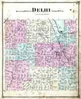 Delhi Township, Ingham County 1874 with Lansing