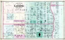 Lansing City - Wards 2 and 4, Ingham County 1874 with Lansing