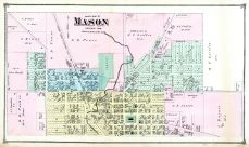 Mason - North, Ingham County 1874 with Lansing