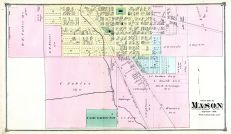 Mason - South, Ingham County 1874 with Lansing