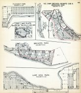 Pleasant Park, Long Lake Plats, M.E. Camp Grounds - Reimer's Sub. and Brookside Park, Bricker's Park, Lake View Park, Ionia County 1931