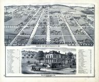 Murphy's Addition - Bird's Eye View, Jackson County 1874