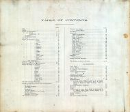 Table of Contents, Kalamazoo County 1890