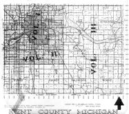 Index Map - Kent County Michigan Vol 1, 2 and 3 - Overlay, Kent County 1960 Vol 2