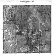 Page 7 - 11 - 12 - Grand Rapids Township, Sec. 12 - Aerial Map, Kent County 1960 Vol 2