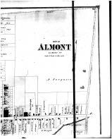 Almont - Above Right, Lapeer County 1874