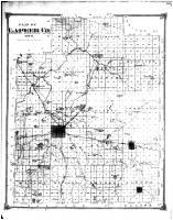 Lapeer County Map, Lapeer County 1874