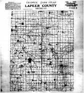 Lapeer County Map, Lapeer County 1915