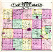 County Map, Lenawee County 1874