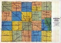 Lenawee County Outline Map, Lenawee County 1928