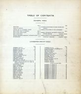 Index and Table of Contents, Livingston County 1915