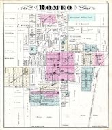 Romeo, Atlas: Macomb County 1875, Michigan Historical Map