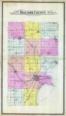 Macomb County Outline Map, Macomb County 1895