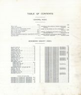 Table of Contents, Menominee County 1912