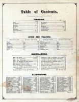 Table of Contents, Monroe County 1876
