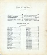 Table of Contents, Montcalm County 1921