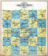 Outline Map, Oakland County 1908