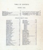 Table of Contents and Index, Oakland County 1908