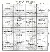 Index Map - Osceola County, Osceola County 194x