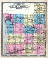 Ottawa County Outline Map, Ottawa County 1912