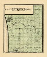 County Map, Ottawa and Kent Counties 1876
