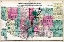 Plan - Saginaw and East Saginaw Cities, Saginaw, Buena Vista and Carrollton Townships, Saginaw County 1877