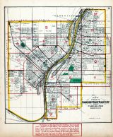 Saginaw and East Saginaw Index Map, Saginaw County 1877