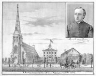 St. Stephen's Catholic Church and School, Rev. E. Van Lauwe, St. Clair County 1876
