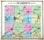 Outline Map, St. Joseph County 1872