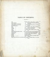Table of Contents, St. Joseph County 1872